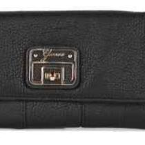 Guess Gerri Slg Faux Leather Black Clutch Wallet Purse Nwt Photo