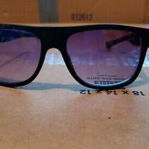 Guess Gf0187 02w Men's 59mm Black Frame Blue Lens Designer Sunglasses New Photo
