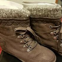 Guess Gg Puck Gdx9 Boots Shoes Winter Nib Women Brown Us 7.5 Free Shipping  Photo