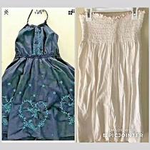 Guess Girl's Xl 12 14  Blue  Embroidered Dress & Juicy Couture Swim  Coverup Lot Photo