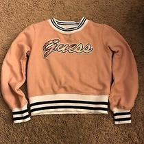 Guess Girls' Active Top Sweatshirt Light Pink Size S 7 Girls  Photo