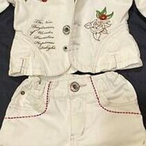 Guess Girls Denim Blazer and Shorts Outfit Size 6 Photo