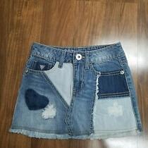 Guess Girls Denim Skirt Size 7 Photo