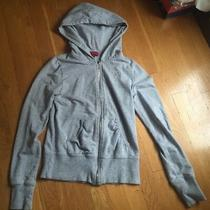 Guess Girls Gray Hooded Zip-Up Sweatshirt - Size S Photo