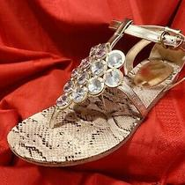 Guess ... Gold  Gladiator  Sandals  With  Silver  Stones ... Size  8.5  Photo