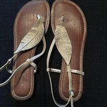 Guess Gold Leaf Sandals Size 9.5 Leather Sole Photo