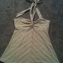 Guess Gold Metallic Stripped Top Photo