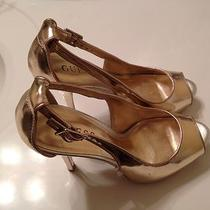 Guess Gold Pumps Size 7 Photo