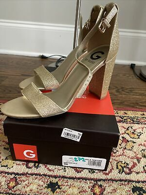 Guess Gold Shantel Sandals Size 9 Photo