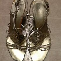 Guess Gold Wedge Heeled Sandals Size 10 Photo