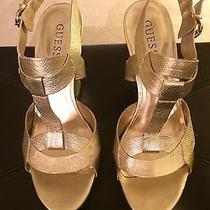 Guess Gold Wedges Photo