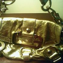Guess Golden Metallic Handbag Photo