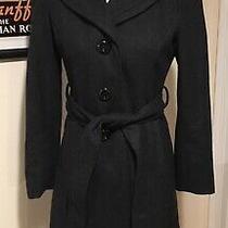 Guess Gray Charcoal Wool Blend Pea Coat Size Womens Petite Small Euc Photo