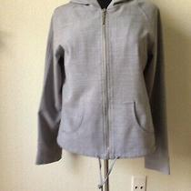 Guess Gray Light Jacket Hoodie Womens Sz L Free Shipping Photo