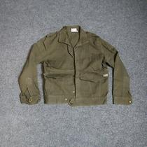 Guess Green Button Casual Pocket Jacket Women's Small Photo