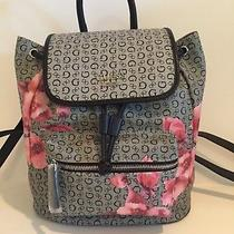 Guess Grey and Black Floral Print Backpack Bag/ New With Tags Photo
