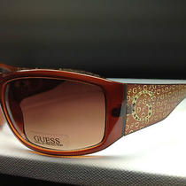 Guess Gu 6388f Fbrn-34 - Women's Brown Frame Designer Sunglasses - 