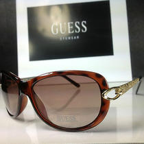 Guess - Gu 7072 to-34 - Women's Brown/gold Frame Designer Sunglasses - 
