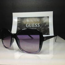 Guess Gu 7144 Puclr-58 - Women's Purple Zebra Frame Designer Sunglasses -