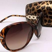 Guess Gu 7290 to-34 Tortoise Crystals Square Brown Gradient Sunglasses X47/19 Photo