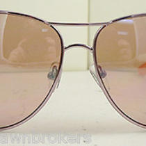 Guess Gu7091 Ro-14f - Women's Light Rose Frame Designer Aviator Sunglasses