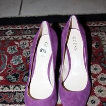 Guess Gw Rolene2 Purple Color Pump Size 8.5m Photo