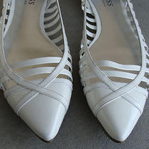 Guess Gwivar White Patent Leather Flats Pointed Toe Shoes 8 M Cute Great Shape Photo