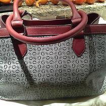 Guess Handbag Blackmulti With Chrome Rings Photo