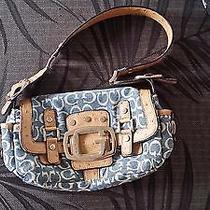 Guess Handbag Denim Genuine Quality Like New Photo