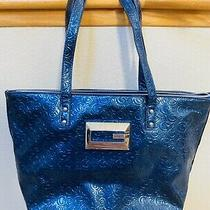 Guess Handbag Shoulder Bag Shimmer Sapphire Tote Photo