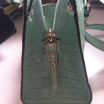 Guess Handbag With Chrome Buckle Aqua Blue Photo