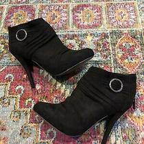 Guess Heeled Black Ankle Boots Nwot Size 6.5 Photo