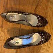 Guess Heels Cut Out Peep Toe 9m 140 Shoes Photo