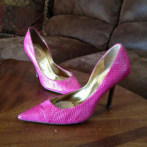 Guess Hot Pink Snake Skin Heel Size 6.5 Retails for 99 Photo