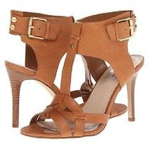 Guess Hyanne Medium Brown Leather T Strap Heel Sandals Women Shoes - 7 New W Box Photo