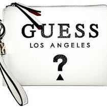 Guess Izzy White Zip Purse Clutch Wristlet  Nwt Photo