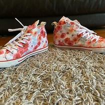 Guess Jacky Hightop Sneakers Euc Flowers Pink Red White Blue Size 8  Photo