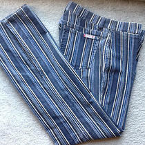 Guess Jean Blue Striped 30 Marciano Pant Top Dress Jacket  Photo