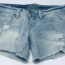 Guess Jean Cut Off Distressed Shorts Size 27 Misses Photo