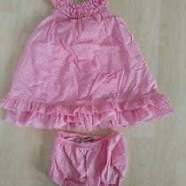 Guess Jeans 24 Months Girl's Pink Polka Dot Ruffled Dress W/cover Photo