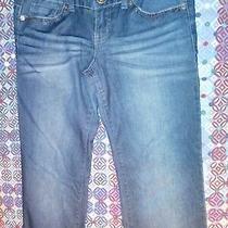 Guess Jeans 28 30 X 33  Stretch Foxy Flare Leg Blue Denim Jeans Womens Low Rise  Photo