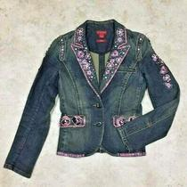 Guess Jeans Authentic  Jeweled Denim Jacket -Size Medium- Photo