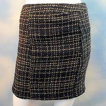Guess Jeans Black Tan Desert Breeze Mariel Lined Career Micro Mini Skirt 25 0 Photo