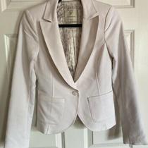 Guess Jeans Brand White Blazer Jacket Women Size 4 Photo