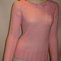 Guess Jeans Bright Pink Loose Knit Boatneck Sweater (S) Photo
