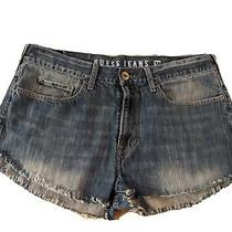 Guess Jeans Cutoff Shorts Size 36 Waist Hight Rise Frayed Photo