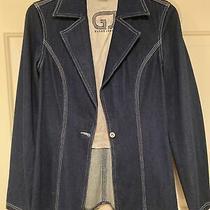 Guess Jeans Denim Blazer Jacket Sportcoat Womens Jacket Size M Stretch Juniors Photo