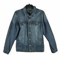 Guess Jeans Denim Jean Trucker Womens Size Xs Jacket Dark Indigo Wash Trending Photo