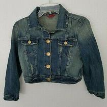 Guess Jeans Distressed Denim Blue Jean Jacket-Women's S/p Photo