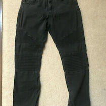 Guess Jeans Elastic Cuff Black Denim Size 31 Style  X72a 5-Pocket Photo